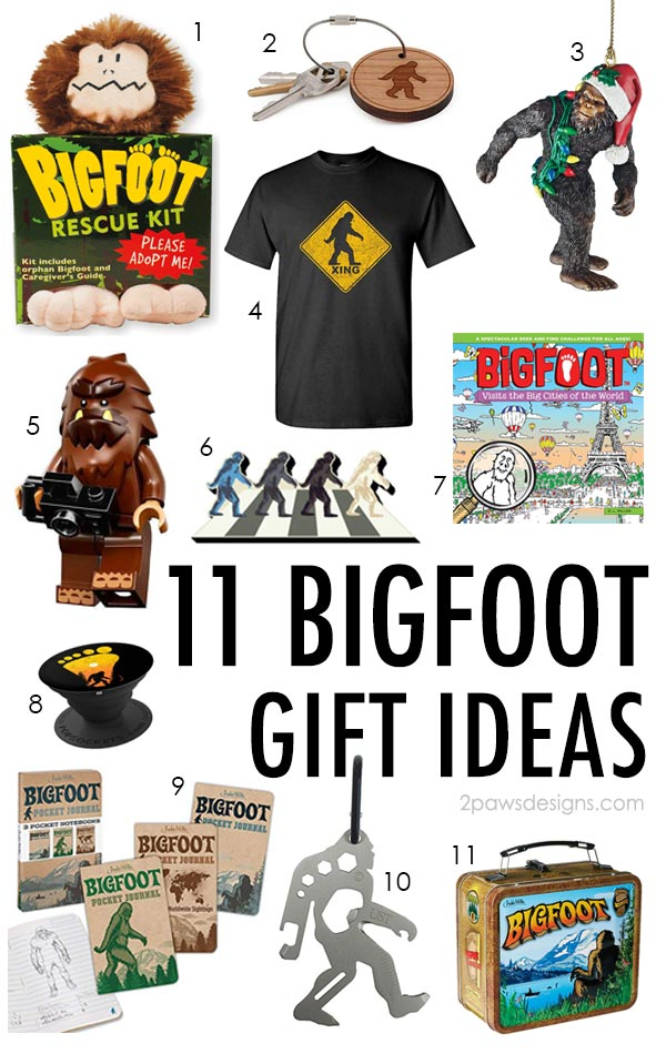 Gift Ideas for the Bigfoot Fan