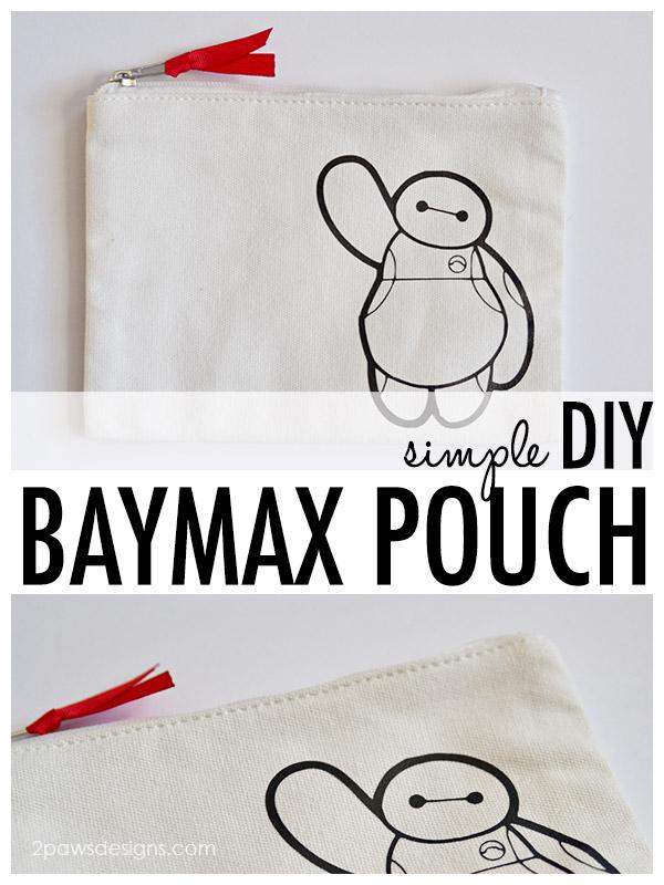 Simple DIY Baymax Pouch