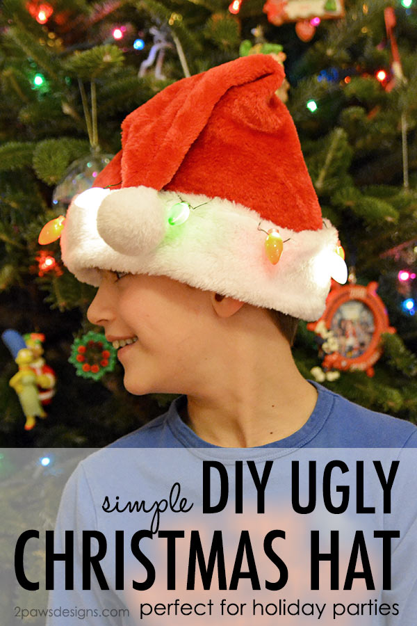 DIY Ugly Christmas Hat tutorial