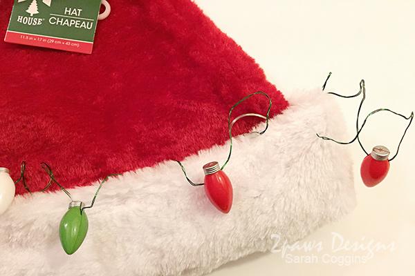Ugly Santa Hat: Adding Lights