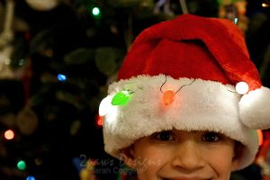 DIY Ugly Santa Hat With Lights