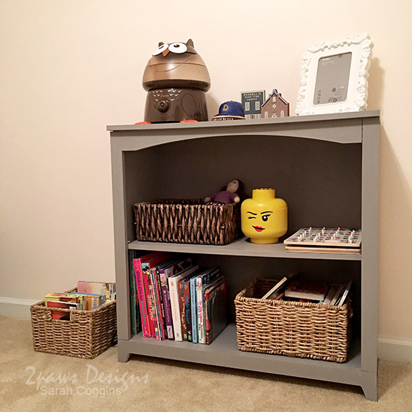 Gray Bookcase: After