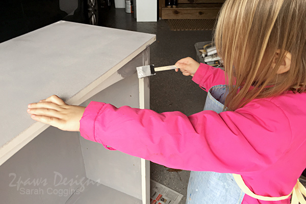 Gray Bookcase Painting Helper