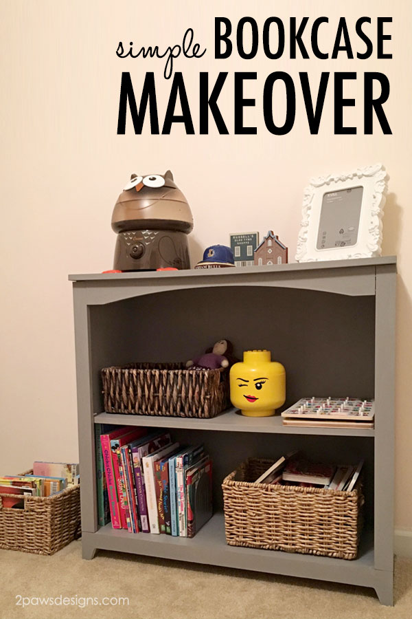 Simple Bookcase Makeover