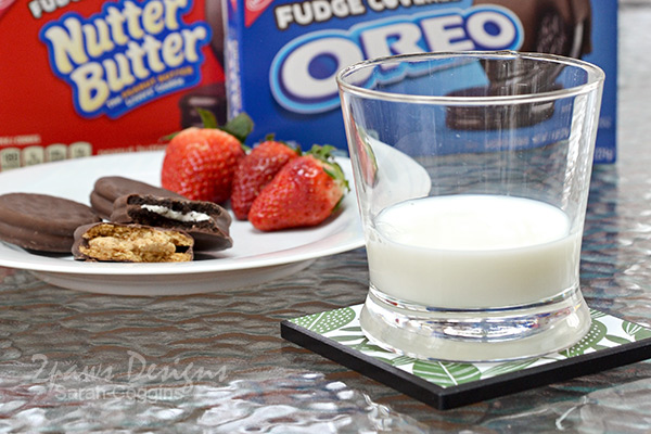 DIY Coasters: Glass of Milk