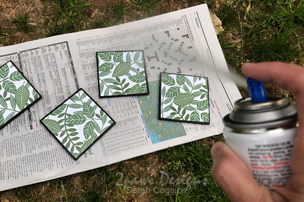DIY Coasters: Spray Acrylic Sealer