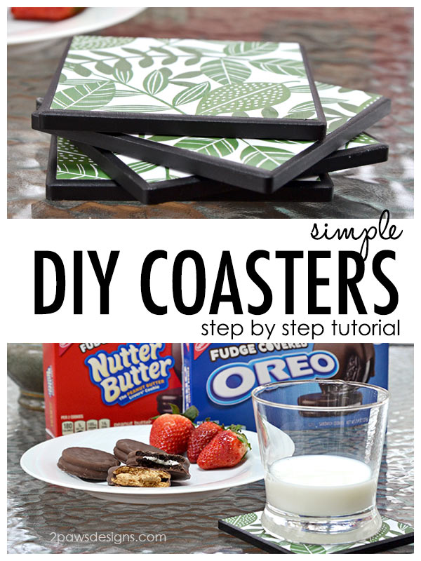 DIY Coasters Tutorial Title #ad #FudgeCoveredFun #StayPlayful