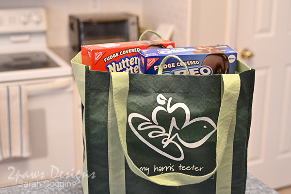 Fudge Covered OREO and Nutter Butter Cookies in Harris Teeter Bag