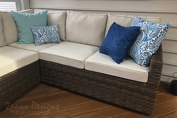 New Outdoor Sectional with Pillows