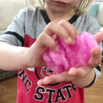 Pink Glitter Slime: Knead to Finishing Combining Ingredients