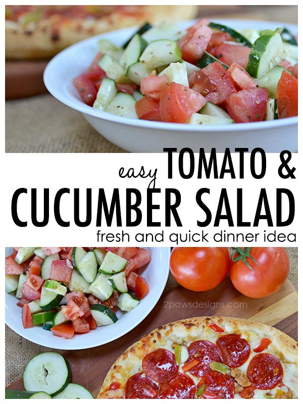 Easy Tomato and Cucumber Salad Recipe