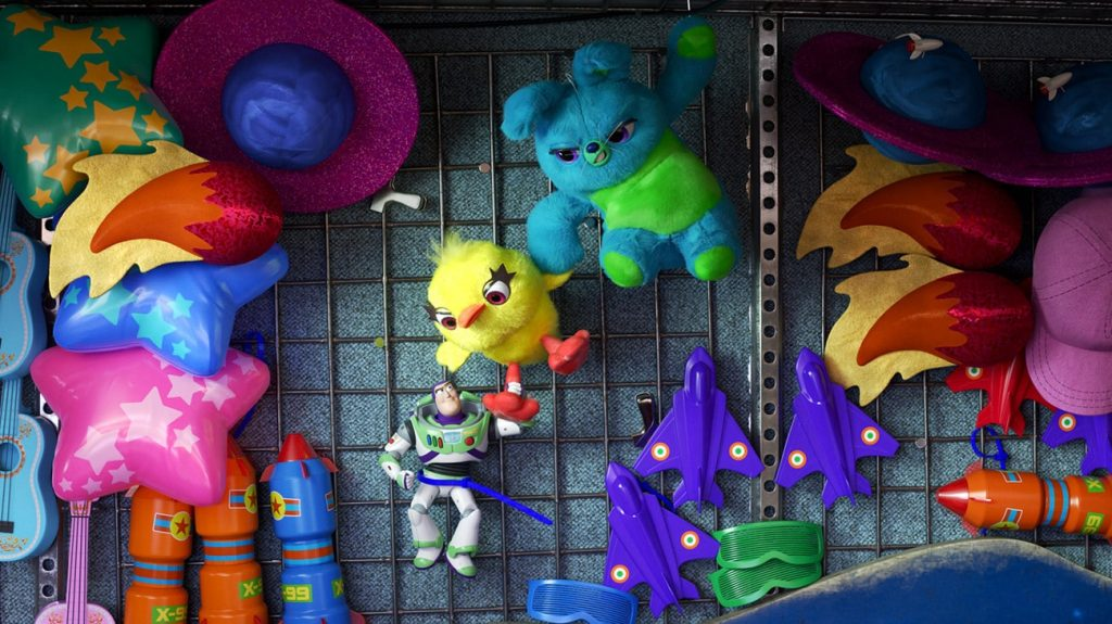Carnival Game Prize Wall in Toy Story 4 - Copyright Disney/Pixar
