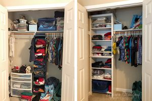 Tween Boy Closet: Before and After