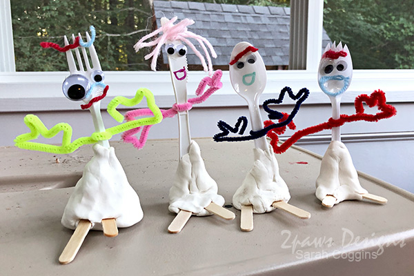 Toy Story Inspired Forky Family Craft