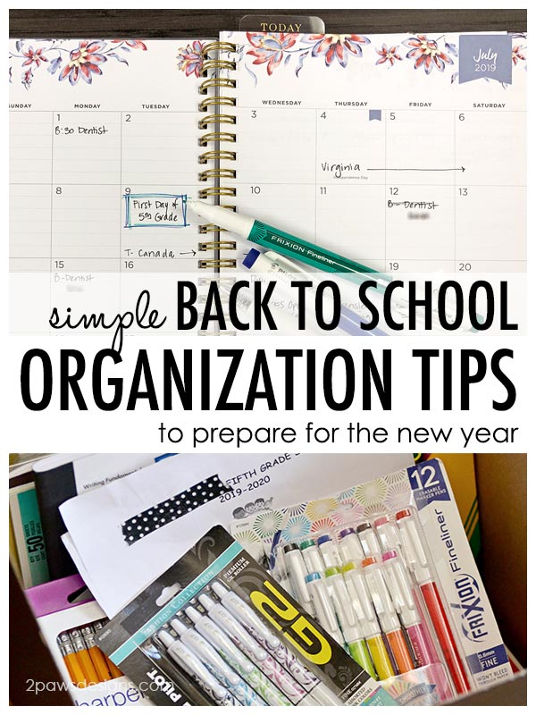 Simple Back to School Organization Tips