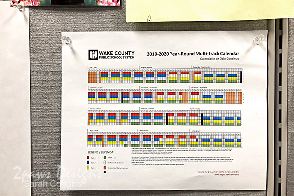 Printed School Year Calendar