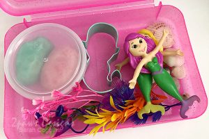 Mermaid Playdough Kit: Add Mermaids and Plants