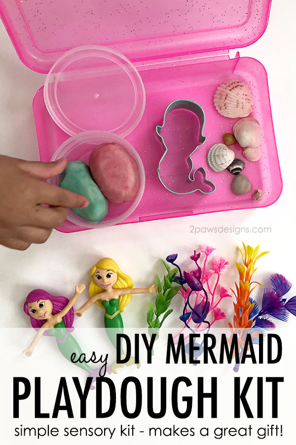 DIY Mermaid Playdough Kit