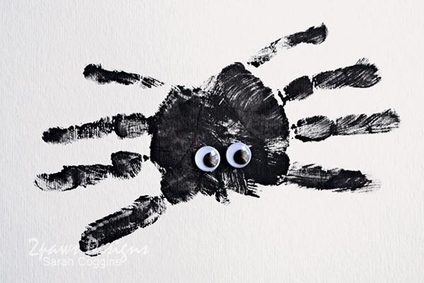 Handprint Spider Craft Complete
