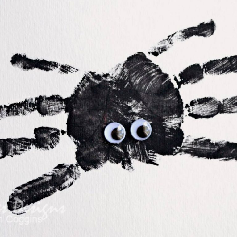 Handprint Spider Craft for Kids