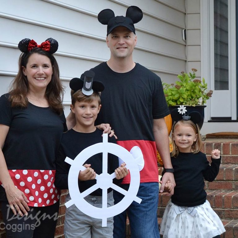 Mickey and Minnie Mouse Themed Family Halloween Costumes