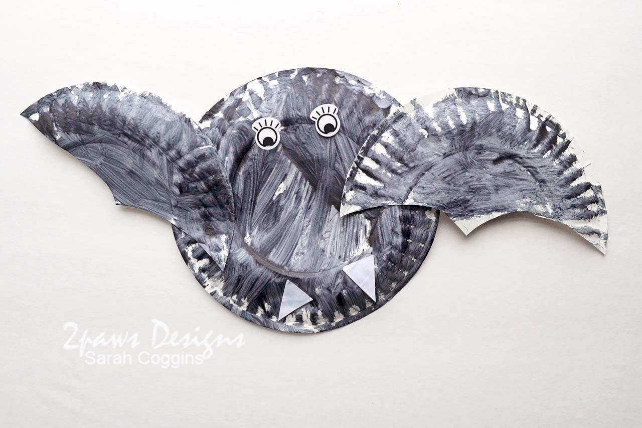 Paper Plate Bat - Halloween Craft for Kids