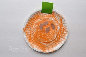 Paper Plate Pumpkin Craft for Kids