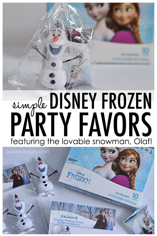 Simple Disney Frozen Party Favors