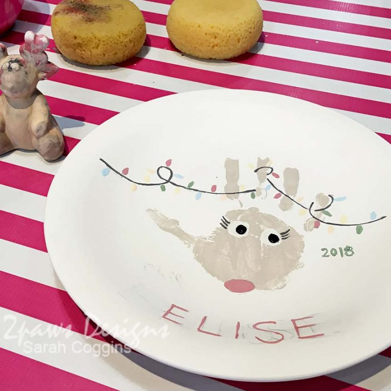Handprint Reindeer Plate