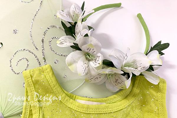 Completed DIY Floral Fairy Headband