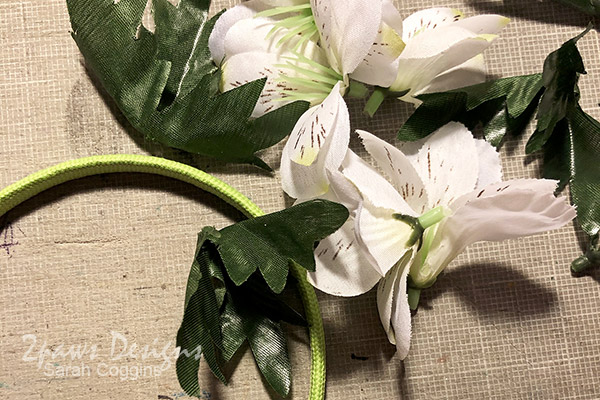 DIY Floral Fairy Headband: In Progress