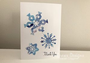 Completed Frozen Inspired Snowflake Card