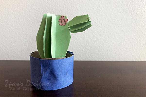 Toilet Paper Tube Cactus Craft