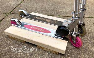 DIY Scooter Stand Closeup