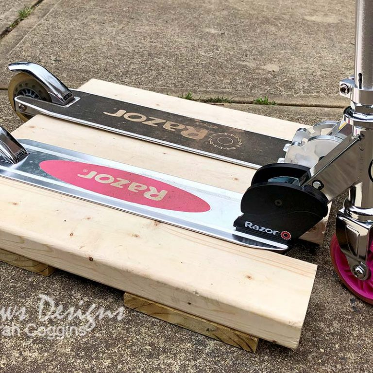 DIY Scooter Stand Closeup