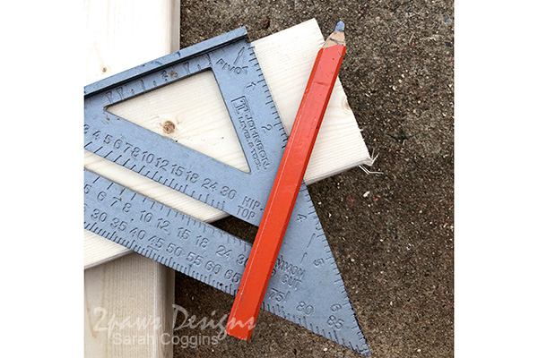 Use a Speed Square to Mark Your Measurement