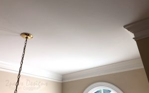 Foyer Ceiling After Popcorn Texture Removal