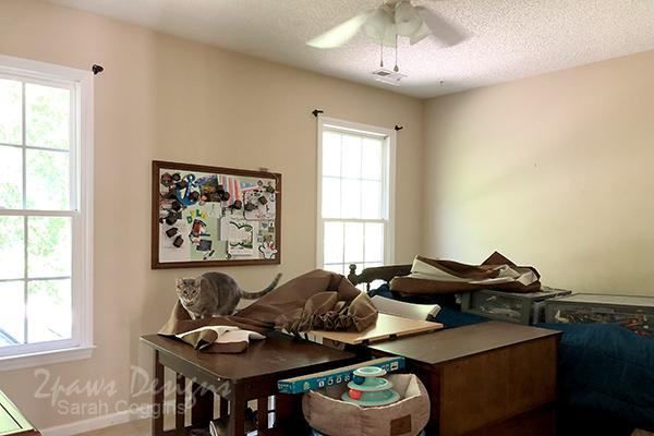 Furniture in Center of Bedroom