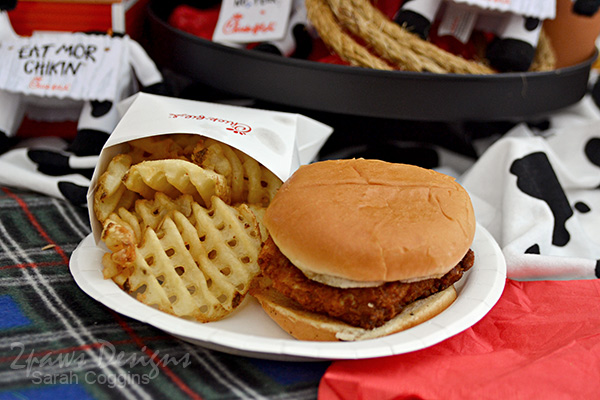 Chick-fil-A Sandwich with Waffle Fries