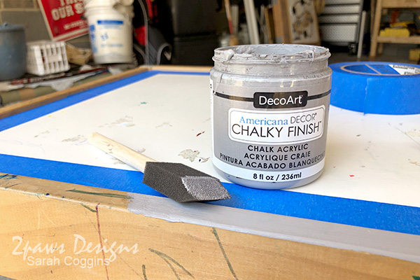 Painting Ikea Latt Table in Gray Chalk Paint