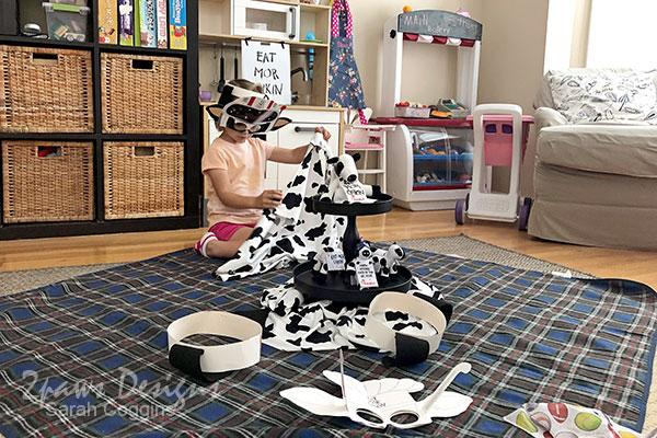 Setting Up Indoor Cow Appreciation Picnic