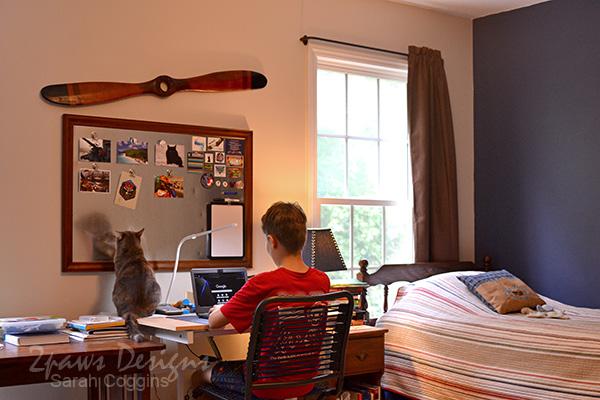 Tween Boy's Desk Area Overview