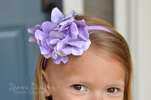 DIY Purple Floral Headband