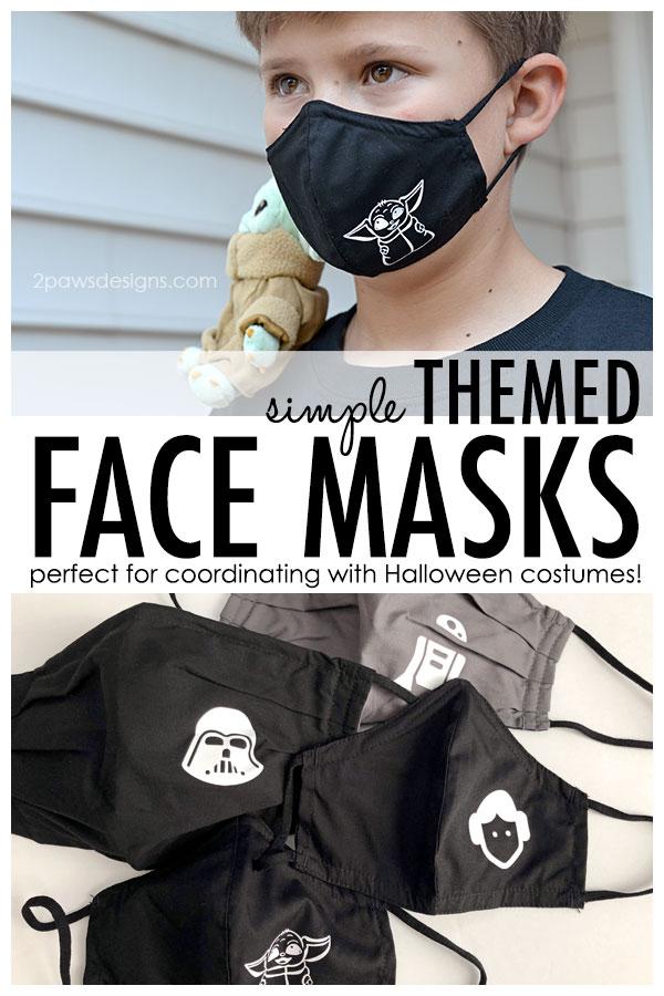 DIY Simple Themed Face Masks for Halloween