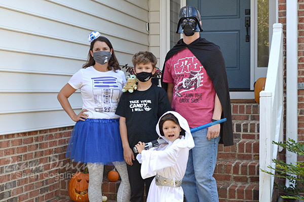 Family Star Wars Themed Halloween Costumes with Face Masks