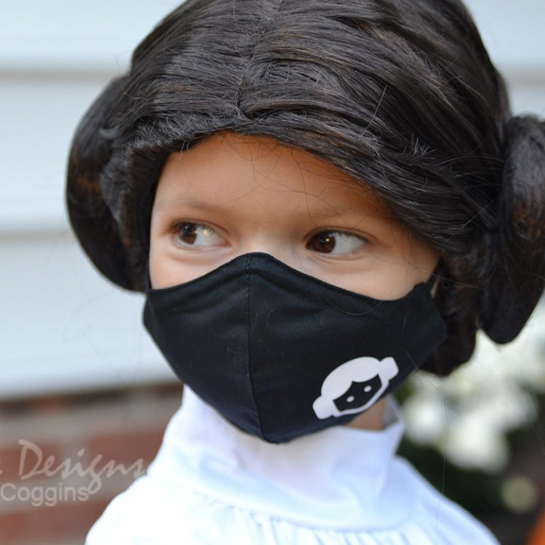 Princess Leia Themed Face Mask