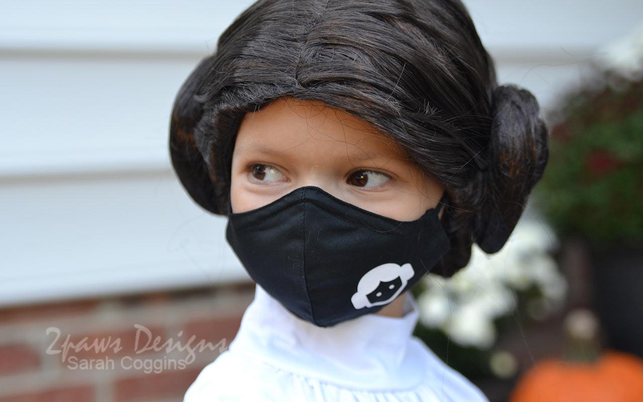 Princess Leia Themed Face Mask