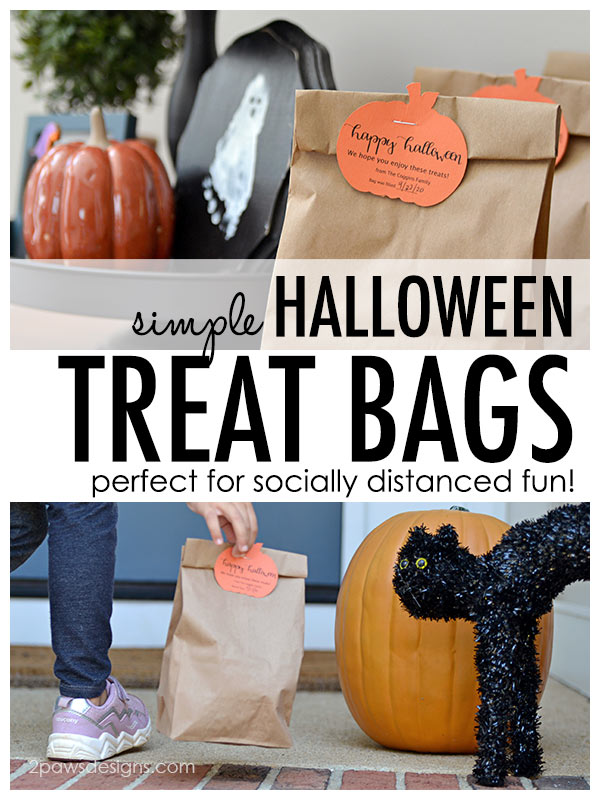 Simple Treat Bags perfect for Socially Distanced Halloween fun!