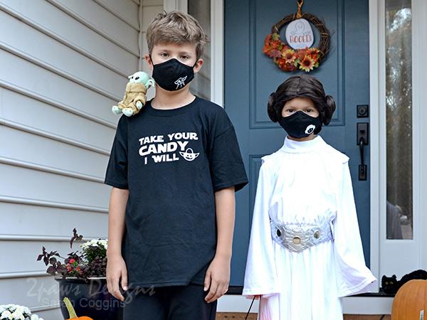 Star Wars Yoda and Princess Leia Halloween Costumes