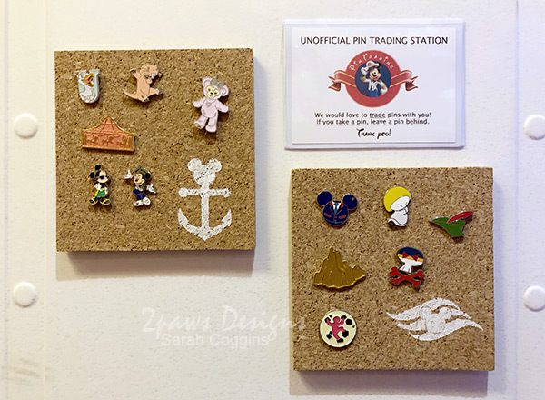 DCL Pin Trading Boards on Disney Magic Stateroom Door